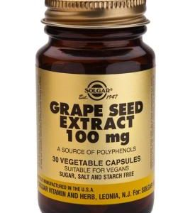 Grape Seed Extract 100 mg Vegetable 30 Capsules