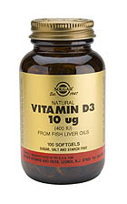 Vitamin D3 400 IU (Cholecalciferol) 100 softgels