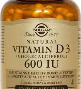 Vitamin D3 (Cholecalciferol) 600 IU Vegetable 60 Capsules