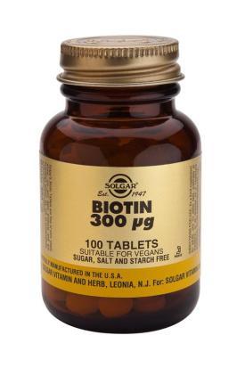 Biotin 300 mcg 100 Tablets