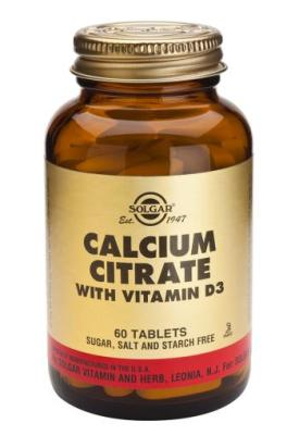 Calcium Citrate with Vitamin D3 60 Tablets