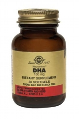DHA 100mg Softgels: 30 softgels