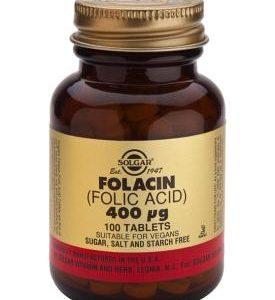 Folacin (Folic Acid) 400 mcg 100 Tablets