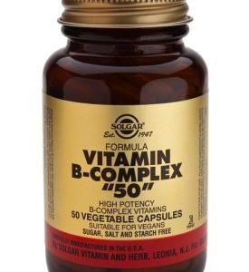 """Formula Vitamin B-Complex """"50"""" Vegetable 50 Capsules"""