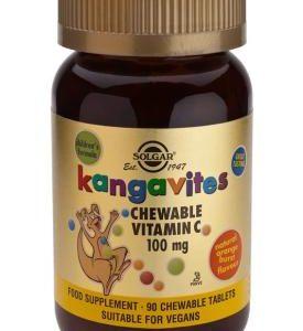 Kangavites Vitamin C 100 mg Chewable Tablets-Orange Burst Flavor