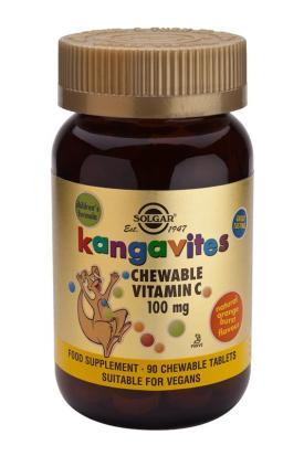Kangavites Vitamin C 100 mg Chewable Tablets-Orange Burst Flavor