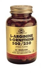 L-Arginine/L-Ornithine 500/250 mg 50 Veg Caps