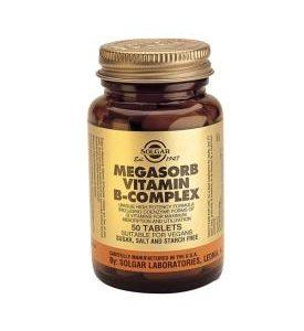 """Megasorb Vitamin B-Complex """"50"""" 100 Tablets"""