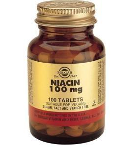 Niacin 100 mg 100 Tablets (Vitamin B3)