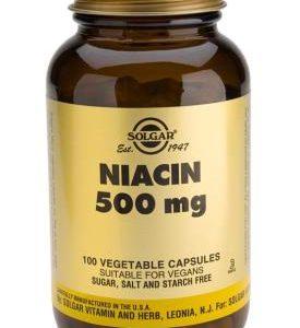 Niacin 500 mg Vegetable 100 Capsules (Vitamin B3)