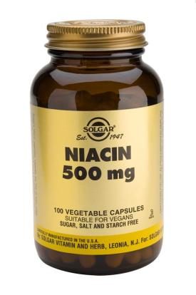 Niacin 500 mg Vegetable 100 Capsules (Vitamin B3)