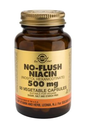 No-Flush Niacin 500 mg Vegetable 50 Capsules (Vitamin B3)