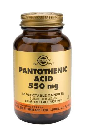 Pantothenic Acid 550 mg Vegetable 50 Capsules