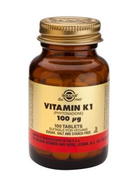 Vitamin K1 (Natural) 100 mcg 100 Tablets