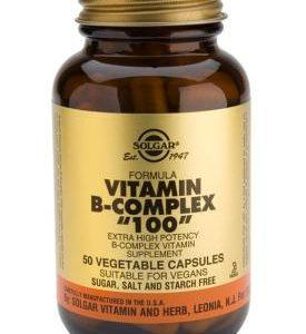 """Formula Vitamin B-Complex """"100"""" Vegetable 50 Capsules"""