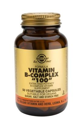 "Formula Vitamin B-Complex ""100"" Vegetable 50 Capsules"