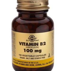 Vitamin B2 100 mg Vegetable 100 Capsules (Riboflavin)