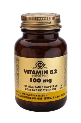 Vitamin B2 100 mg Vegetable 100 Capsules (Riboflavin)