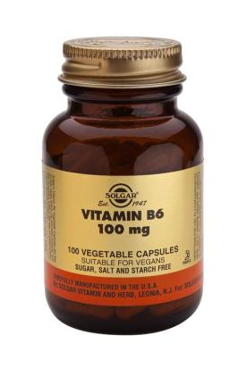 Vitamin B6 100 mg 100 Vegetable Capsules