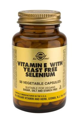 Vitamin E with Yeast-Free Selenium Vegetable 50 Capsules