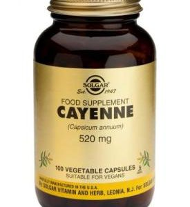 Cayenne Vegetable Capsules 100