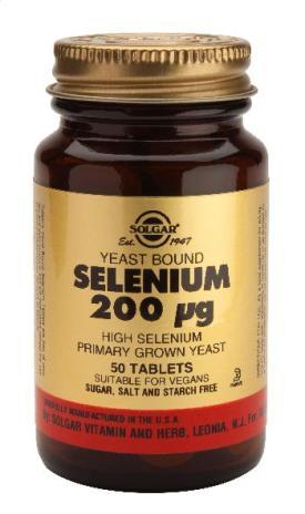 Selenium 200 ug Tabs (Yeast Bound) 50