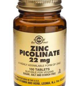 Zinc Picolinate 22 mg Tablets 100