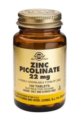 Zinc Picolinate 22 mg Tablets 100