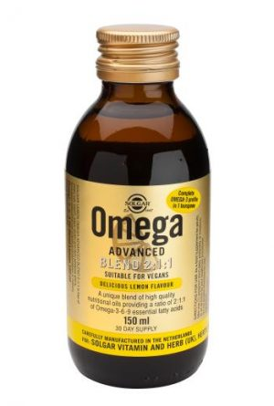 Solgar Omega Advanced Blend 2:1:1 150ml Lemon Flavour