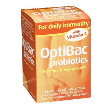 Optibac Daily Immunity Probiotics with Vitamin C (30 caps)